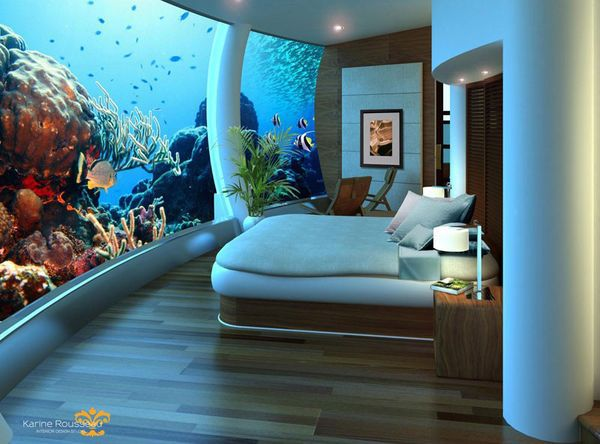 По ту сторону аквариума. Уникальный подводный отель на острове Фиджи (ФОТО)