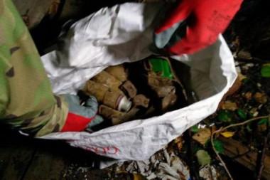 В Харьковской области обнаружили арсенал боеприпасов (ВИДЕО)