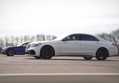 «Горячие» седаны Mercedes-AMG S63 и BMW M760i сравнили в гонке (ВИДЕО)
