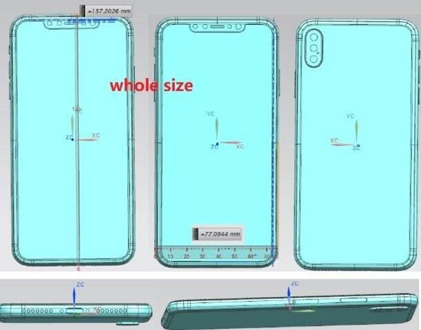 Появились первые чертежи флагманского и бюджетного iPhone (ФОТО)