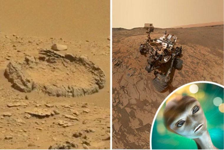 На Марсе нашли каменный круг, который могли выложить инопланетяне (ФОТО)