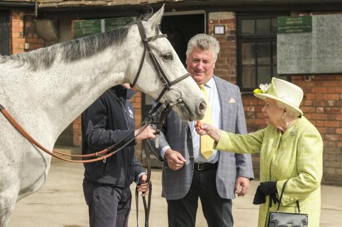 Королева Елизавета II покормила лошадей (ФОТО)