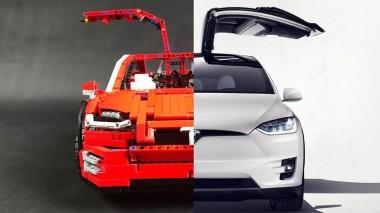 Энтузиасты собрали точную копию Tesla Model X из кубиков Lego (ВИДЕО)