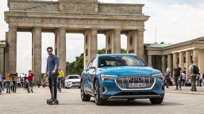 Audi представила электрический самокат e-tron (ФОТО)