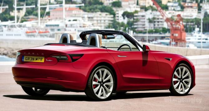 Этот Tesla Model 3 станет конкурентом Mazda MX-5 Miata (ФОТО)