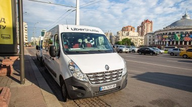"""""""Uber Shuttle"""" запустил автобусный маршрут с Оболони"""