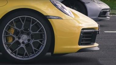 Два мощных Porsche сразились на прямой (ВИДЕО)