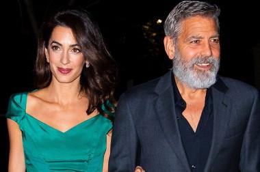 Амаль и Джордж Клуни на прогулке по вечернему Нью-Йорку  (ФОТО)