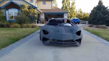 Папа распечатал для сына на 3D-принтере работающий Lamborghini Aventador (ВИДЕО)
