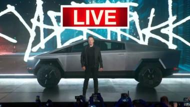 Илон Маск показал свой первый пикап Tesla Cybertruck (ФОТО)