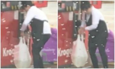 В США женщина на заправке залила бензин в дырявый полиэтиленовый пакет (ВИДЕО)