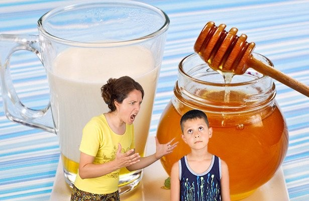 Перестать травмировать ребёнка помогут мёд и молоко