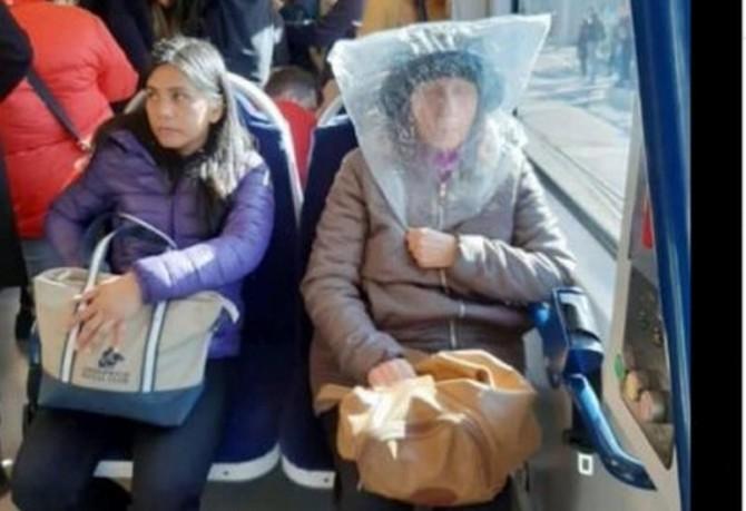 Бабушка решила защитить себя от коронавируса необычным способом
