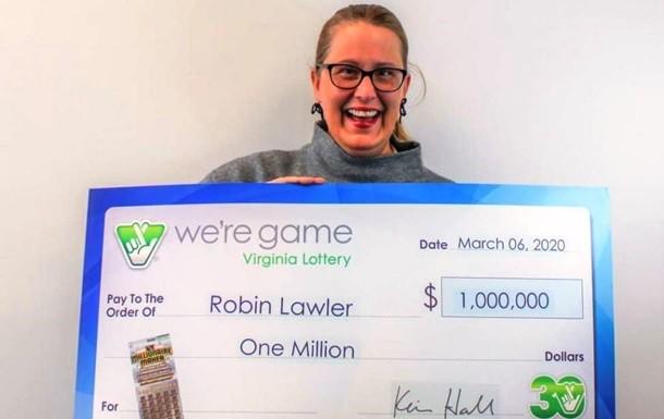 Американка выиграла один миллион долларов в свой день рождения