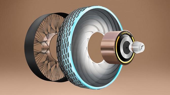 Goodyear создал шину, которая регенерирует протектор