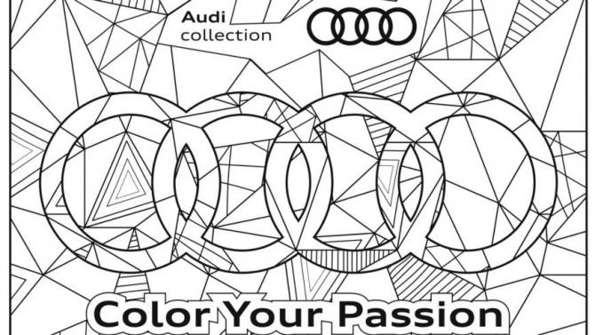Раскраска от Audi или возможность скоротать время в карантине