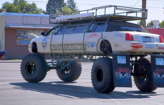 Lincoln Monster Truck или безумный внедорожный лимузин (ВИДЕО)