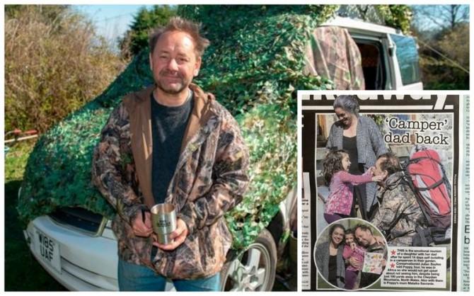 Профессор из США просидел 14 дней на карантине в фургоне рядом с домом