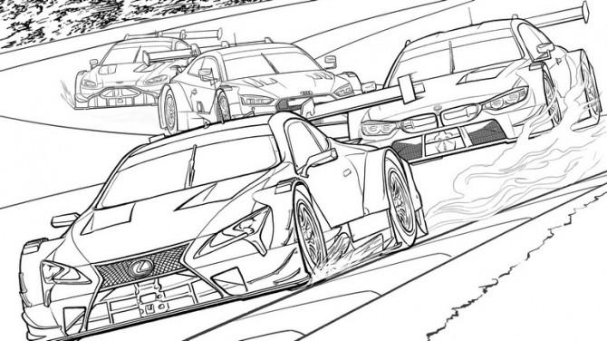 Lexus выпустила серию раскрасок от скуки в изоляции