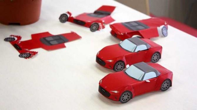 Mazda выпустила бумажные наборы для моделирования
