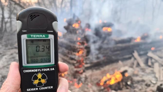 В МОЗ посоветовали ограничить пребывание на улице из-за пожара в Чернобыльской зоне