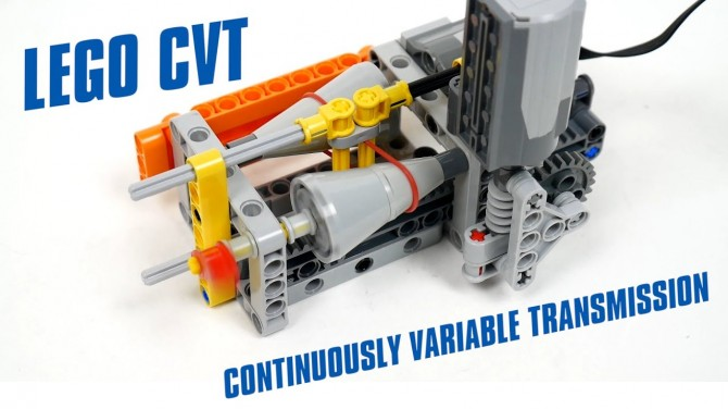 Из деталей Lego построили функционирующую трансмиссию CVT (ВИДЕО)