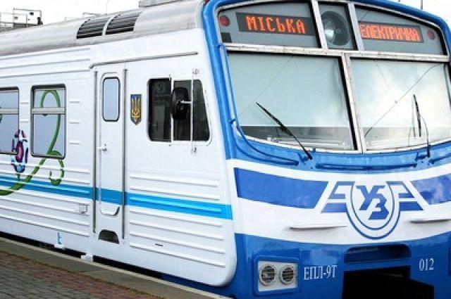 В Киеве полностью восстановлено кольцевое движение городской электрички