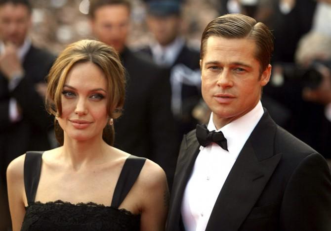 Впервые после скандального развода Брэд Питт приехал в гости к Анджелине Джоли