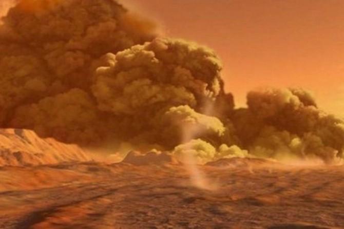 Исчезновение воды на Марсе связали с пыльными бурями