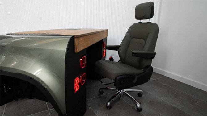 Из нового Land Rover Defender сделали письменный стол