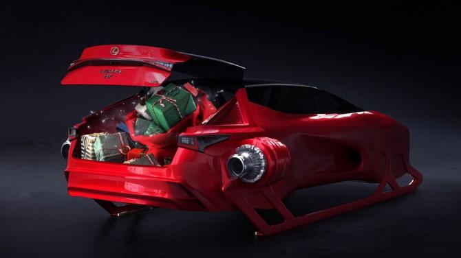 Lexus представил свой вариант саней для Санта-Клауса