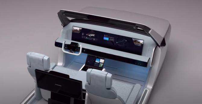 Компания Samsung показала концепцию автомобиля будущего (ВИДЕО)