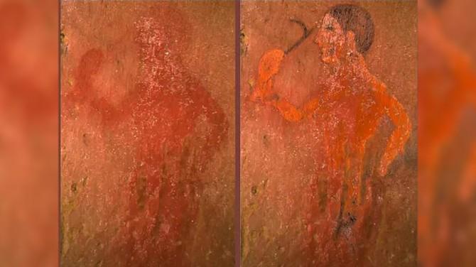 На древней этрусской фреске нашли скрытую фигуру