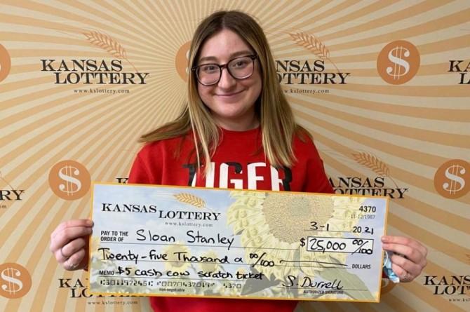 Девушка впервые сыграла в лотерею и сразу же выиграла