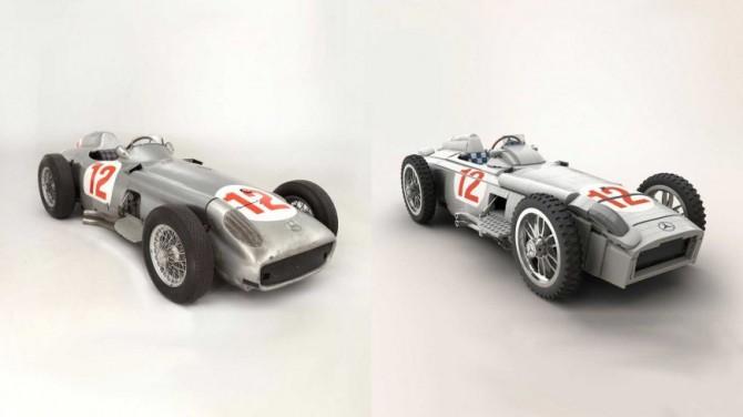Из наборов Lego создана точная копия гоночного Mercedes W196R