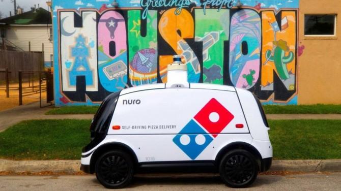 Domino Nuro R2 - автономная машина по доставке пиццы