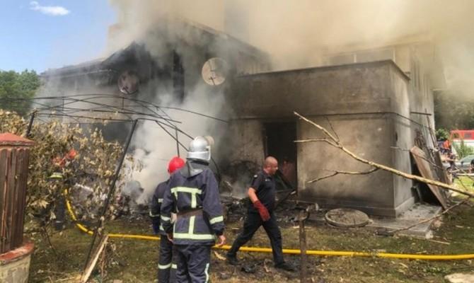 Появилось видео с моментом падения самолёта на Прикарпатье