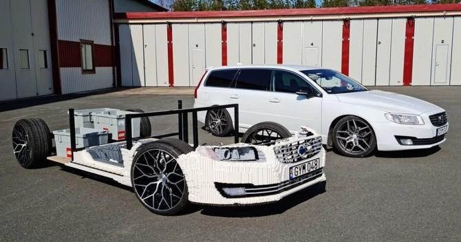 Парень строит из Lego точную копию своего Volvo (ВИДЕО)
