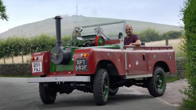Land Rover образца 1967 года получил паровой двигатель