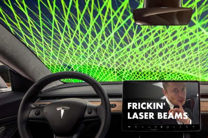 Tesla запатентовала лазерный стеклоочиститель