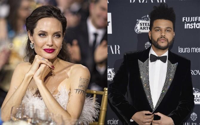 Анджелина Джоли и The Weeknd подогрели слухи о романе (ВИДЕО)